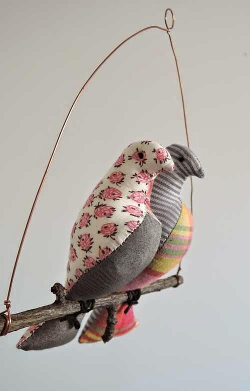 Szmaciane ptaszki.